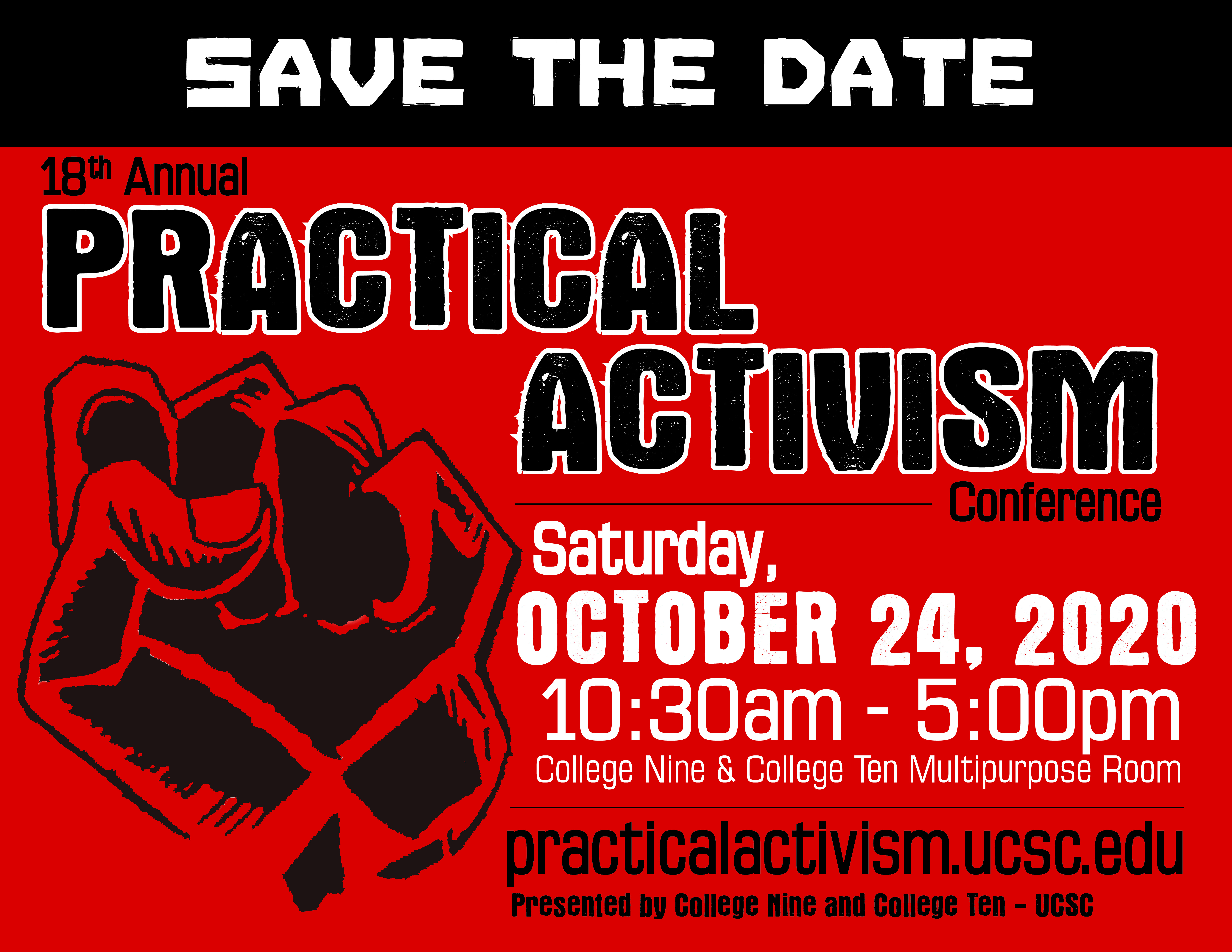 Save the Date! Practical Activism Conference is October 20, 2018